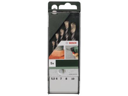 Bosch mèches à béton 5,5-10 mm set de 5