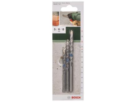 Bosch mèches à béton 5/6/8 mm set de 3