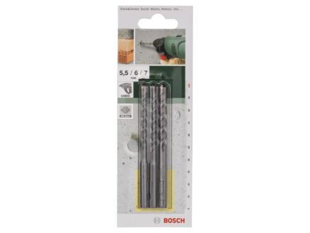 Bosch mèches à béton SDS-quick 5,5/6/7 mm set de 3