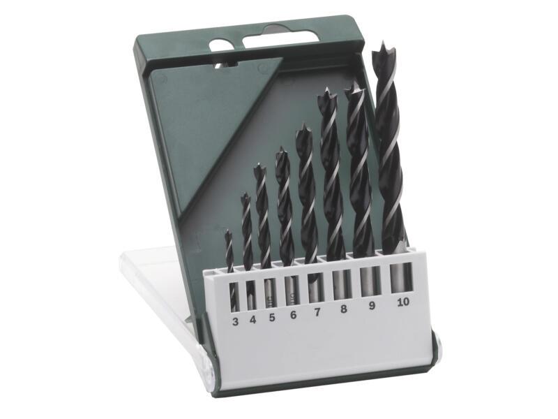 Bosch mèches à bois 3-10 mm set de 8