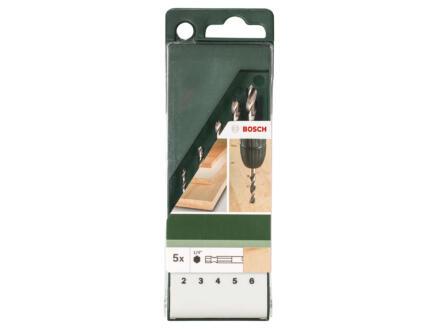 Bosch mèches à bois HEX 2-6 mm set de 5
