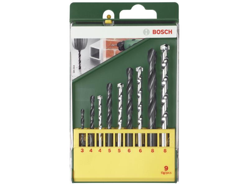 Bosch mèches à pierre HM/HSS-R 3-8 mm set de 9