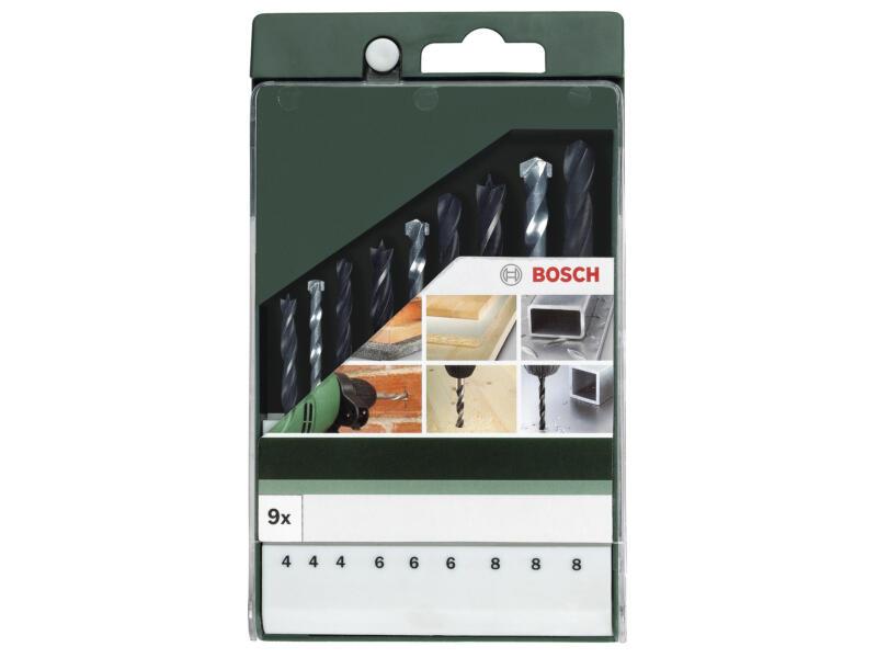 Bosch mèches universelles 4-8 mm set de 9