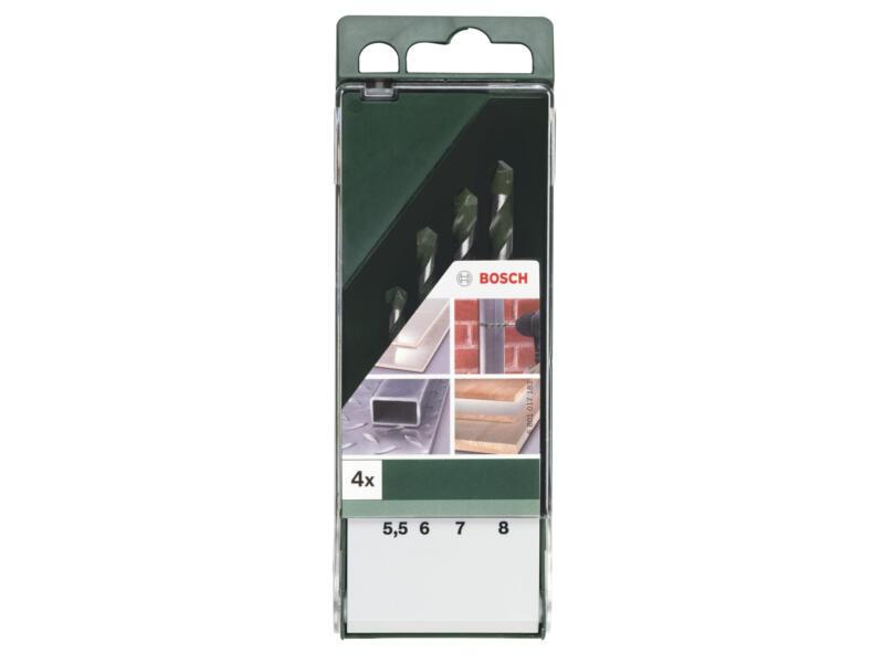 Bosch mèches universelles 5,5-8 mm set de 4