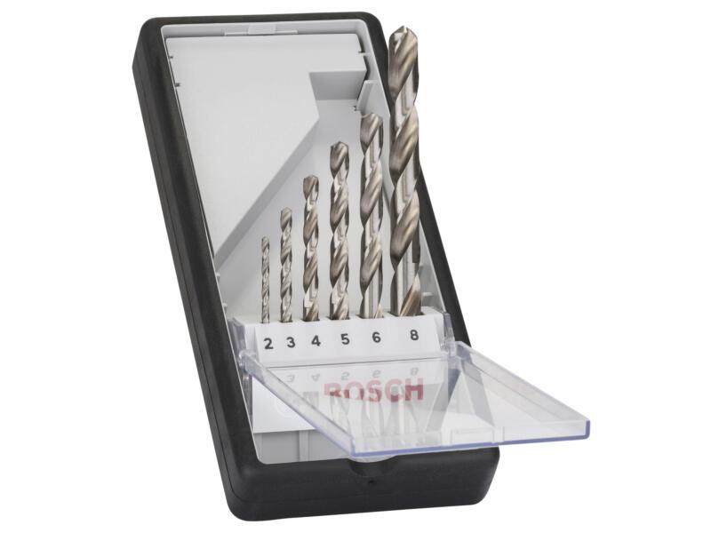 Bosch Professional metaalborenset HSS-G 2-8 mm 6-delig