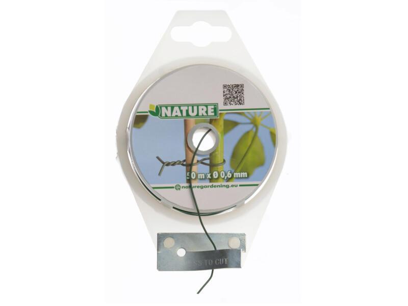 Nature metaaldraad 50m 0,6mm groen