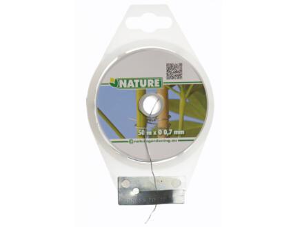 Nature metaaldraad 50m 0,7mm