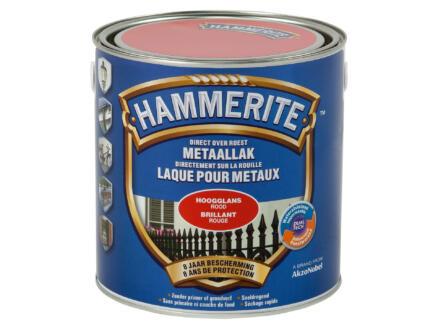 Hammerite metaallak hoogglans 2,5l rood