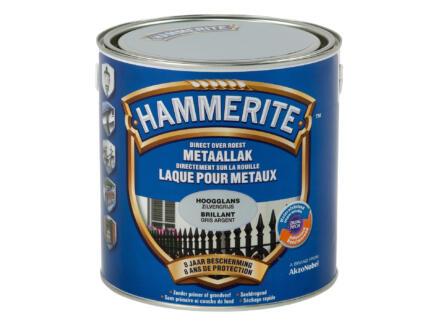Hammerite metaallak hoogglans 2,5l zilvergrijs