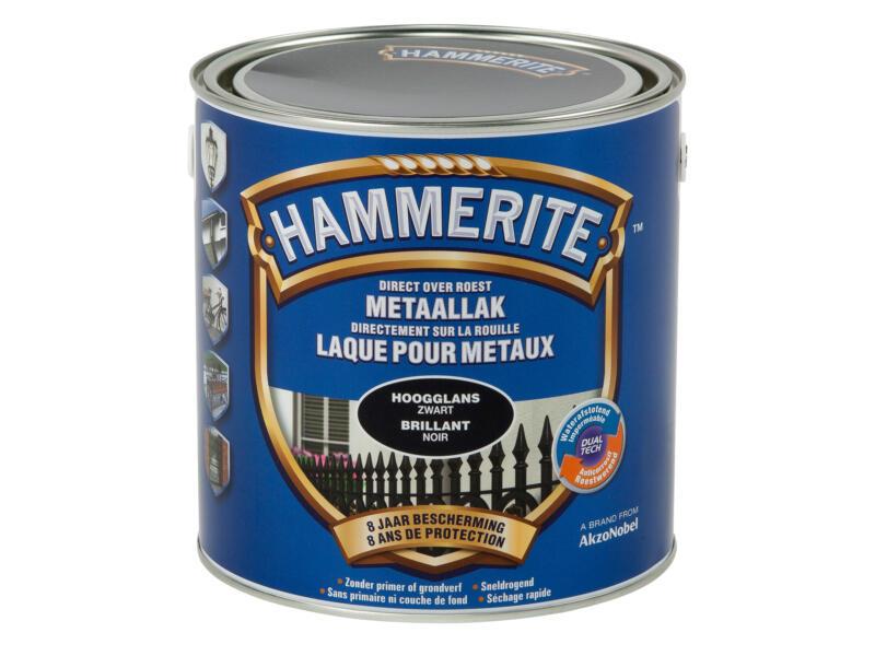 Hammerite metaallak hoogglans 2,5l zwart