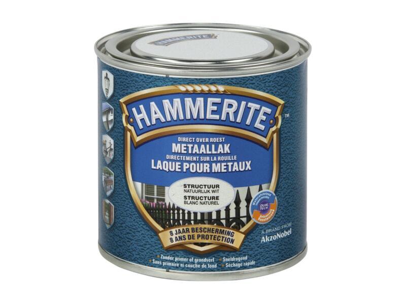 Hammerite metaallak structuur 0,25l natuurlijk wit