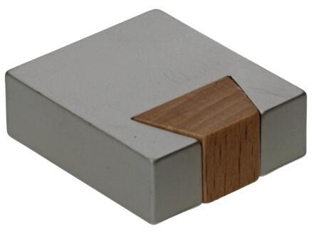 Sam meubelknop op voet  30x26 mm nikkel 2 stukken