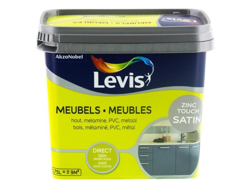 Levis meubelverf zijdeglans 0,75l zinc touch