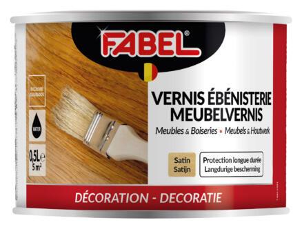 Fabel meubelvernis meubels & houtwerk zijdeglans 0,5l kleurloos