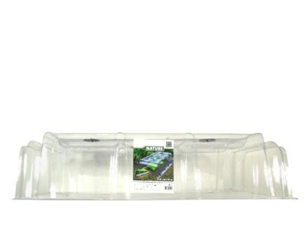 Nature mini serre tunnel de forçage modulaire 22x86x40 cm + 6 clous de fixation
