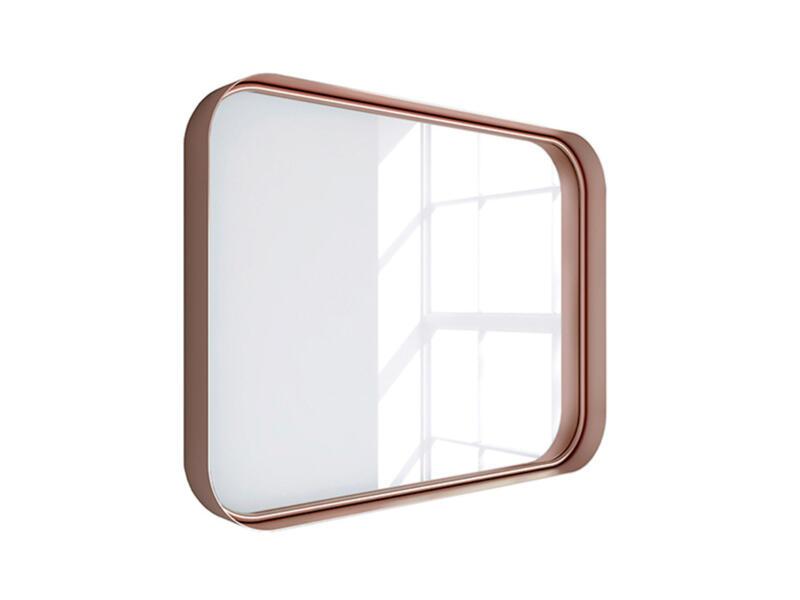 miroir 80x60 cm or rosé
