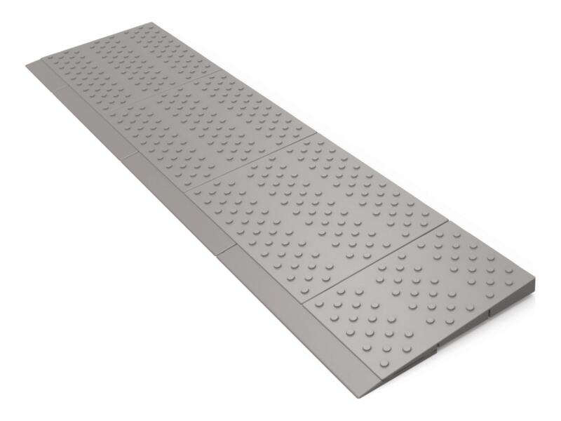 Secucare modulaire drempelhulp 1 laags 84x21 cm grijs