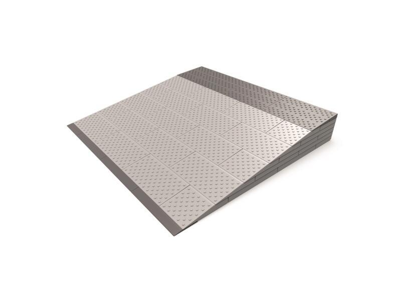 Secucare modulaire drempelhulp 6 laags 84x81 cm grijs