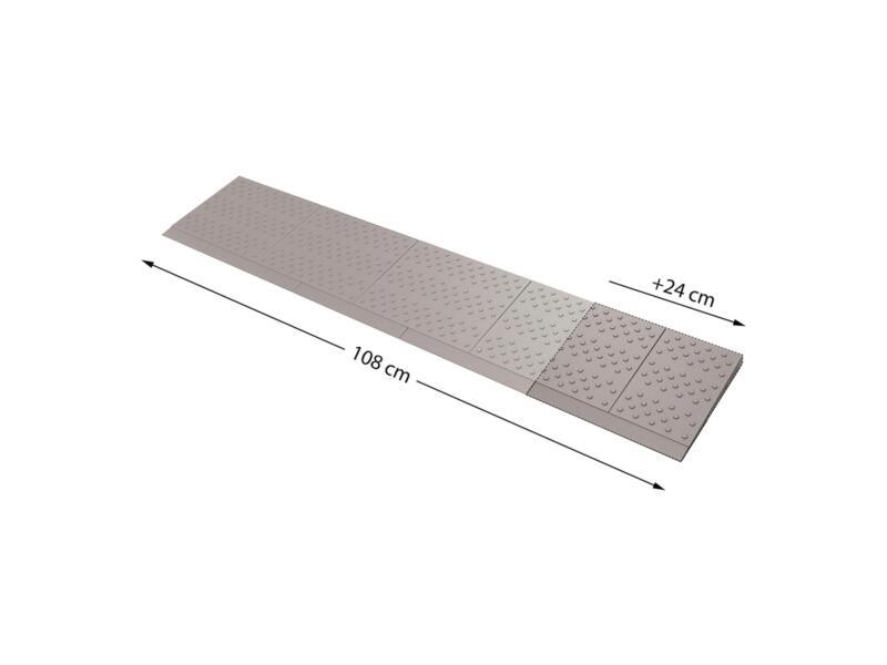 Secucare modulaire drempelhulp verbredingsset 1 108x21 cm grijs