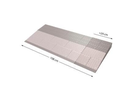 Secucare modulaire drempelhulp verbredingsset 3 108x45 cm grijs