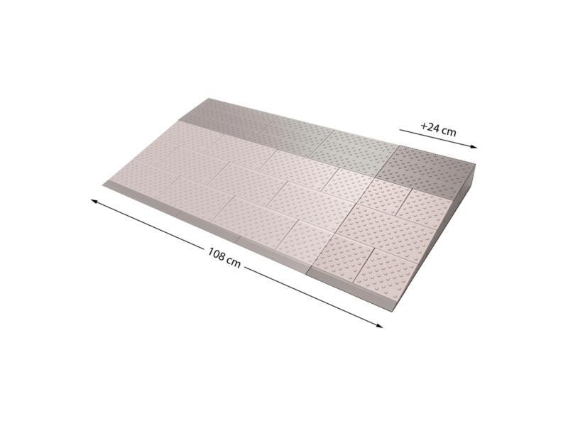 Secucare modulaire drempelhulp verbredingsset 4 108x57 cm grijs