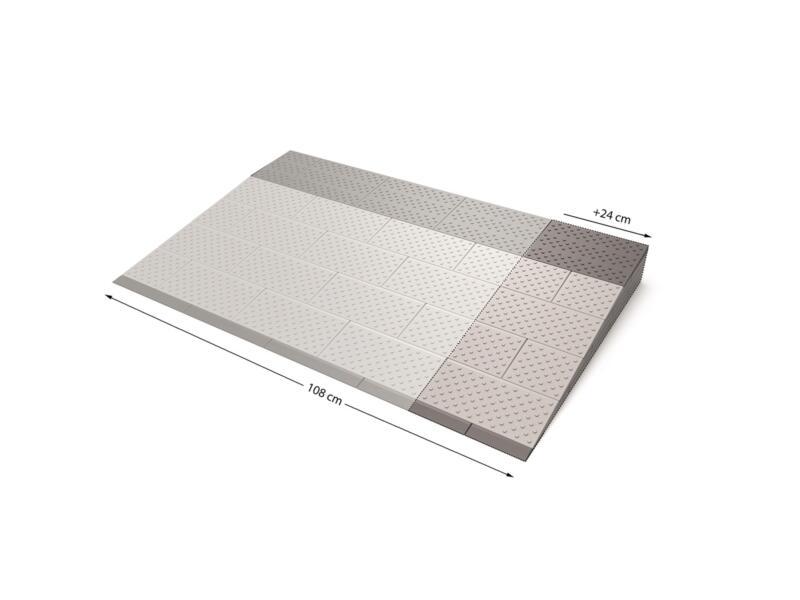 Secucare modulaire drempelhulp verbredingsset 5 108x69 cm grijs