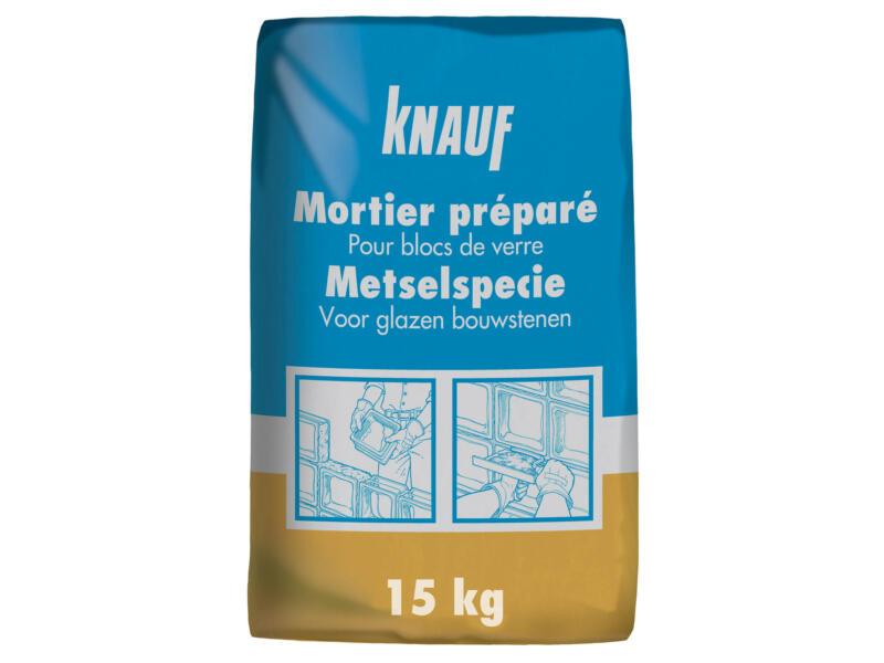 Knauf mortier préparé pour briques de verre 15kg