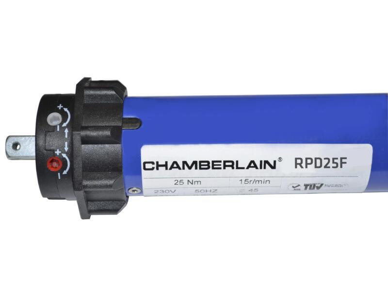 Chamberlain moteur tubulaire avec récepteur et télécommande