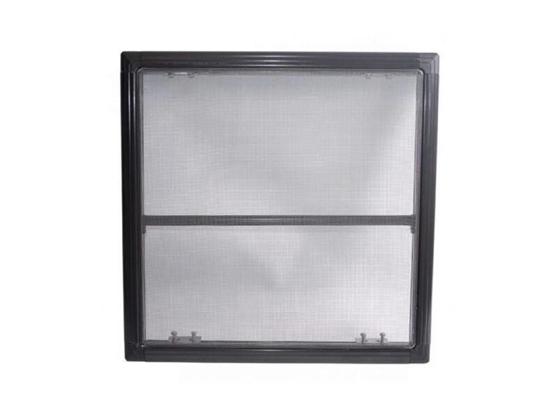 Stopinsect moustiquaire de fenêtre 80x100 cm anthracite