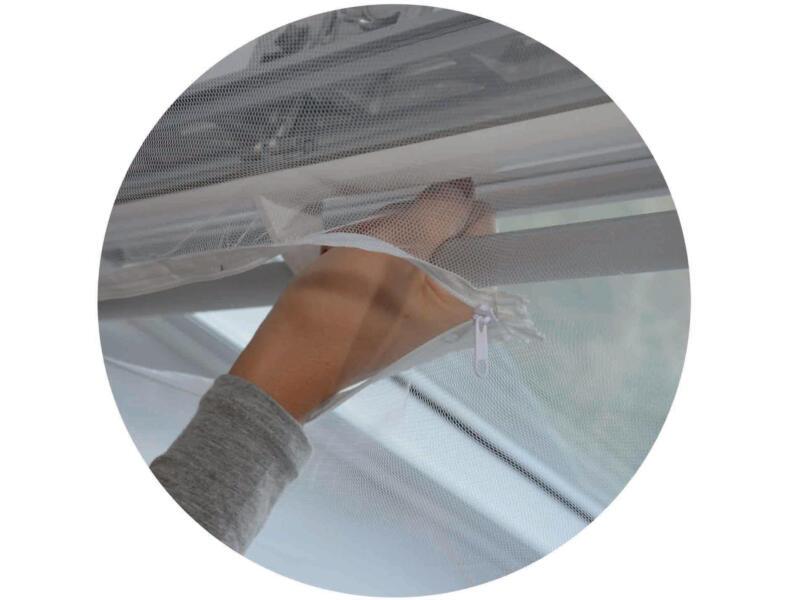 Confortex muggengaas voor dakraam 150x180 cm wit