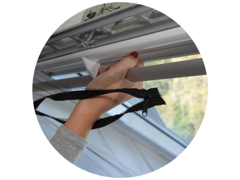 Confortex muggengaas voor dakraam 150x180 cm zwart