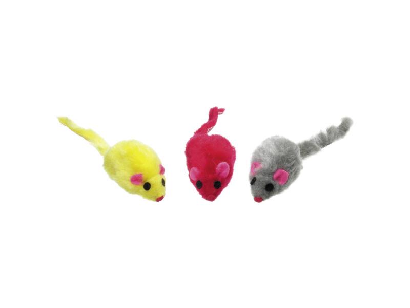 Flamingo muis pluche 12cm 9 stuks
