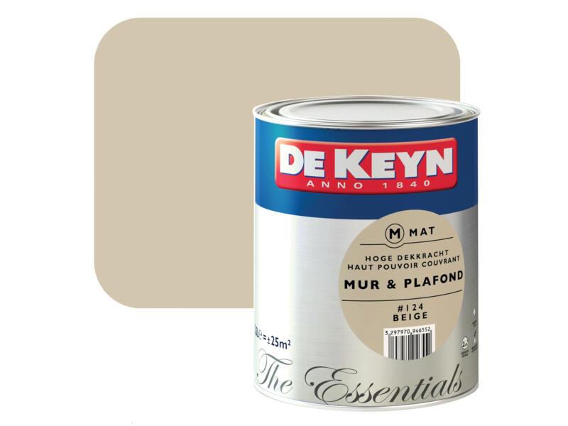 De Keyn muur- en plafondverf mat 2,5l beige #124