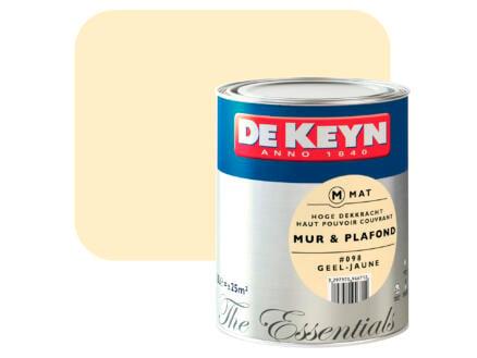 De Keyn muur- en plafondverf zijdeglans 2,5l geel #098