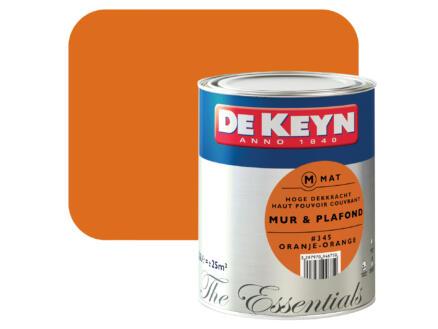 De Keyn muur- en plafondverf zijdeglans 2,5l oranje #345