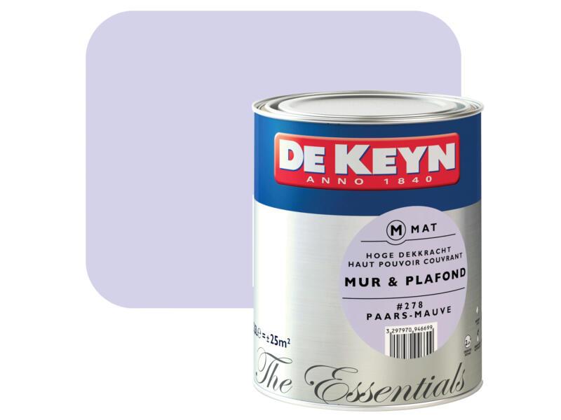 De Keyn muur- en plafondverf zijdeglans 2,5l paars #278