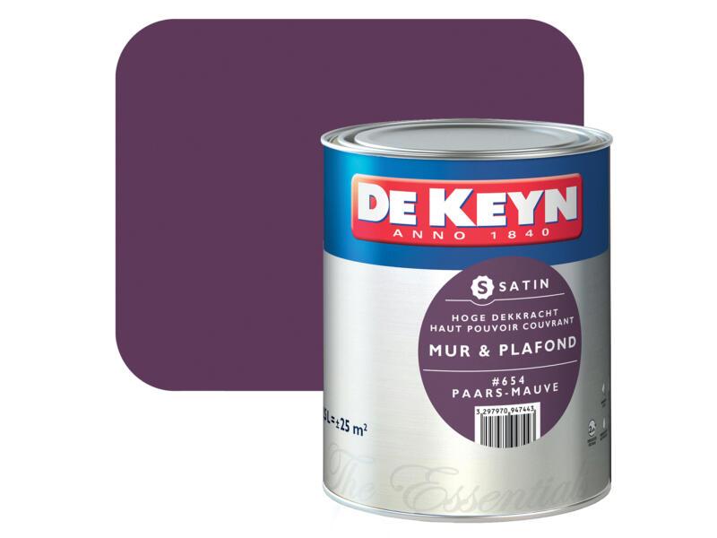 De Keyn muur- en plafondverf zijdeglans 2,5l paars #654