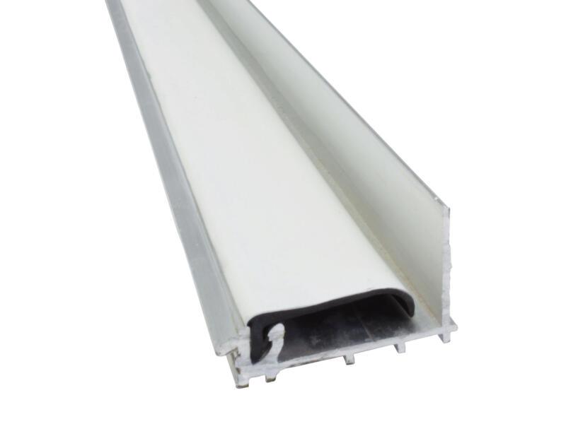 Scala muurprofiel met witte rubber 300cm 16mm aluminium