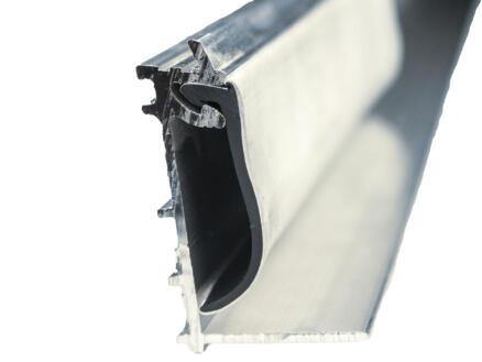 Scala muurprofiel met witte rubber 700cm 16mm aluminium