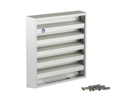 Renson muurrooster 165x165 mm aluminium grijs