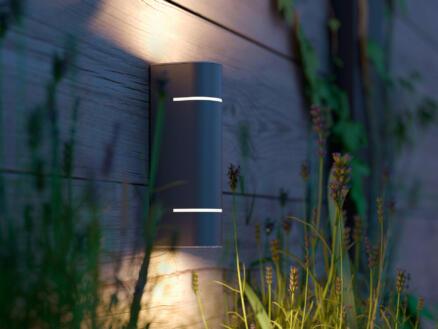 Philips myGarden Sunset LED wandlamp 2x1W inox