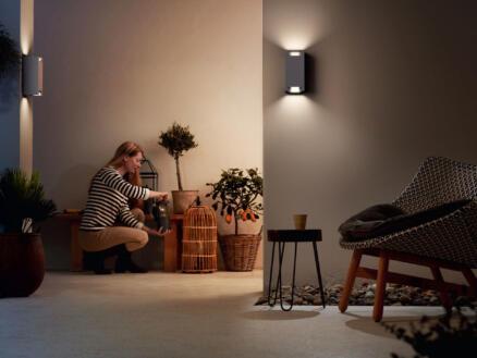 Philips myGarden Trowel wandlamp max. GU10 max. 2x5 W aluminium