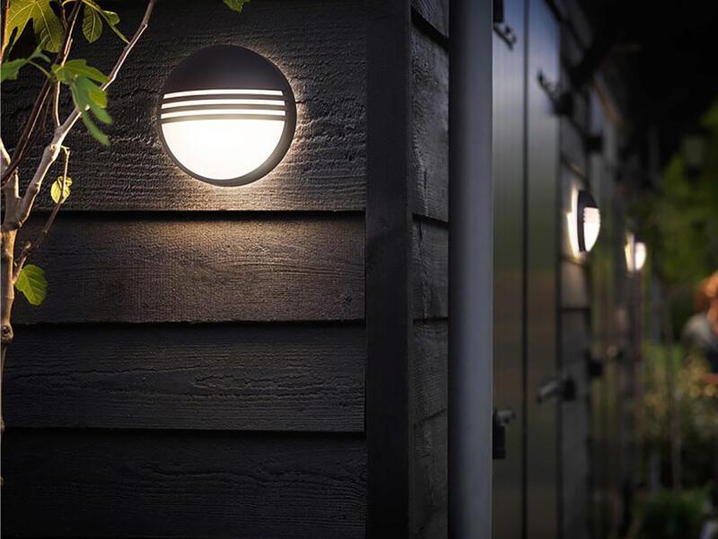 Philips myGarden Yarrow LED wandlamp 6W zwart