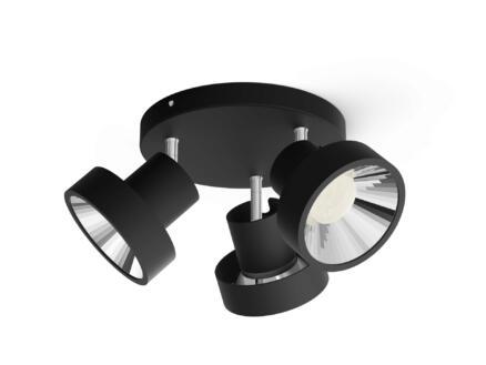 Philips myLiving Bukko spot de plafond LED 3x4,3W noir