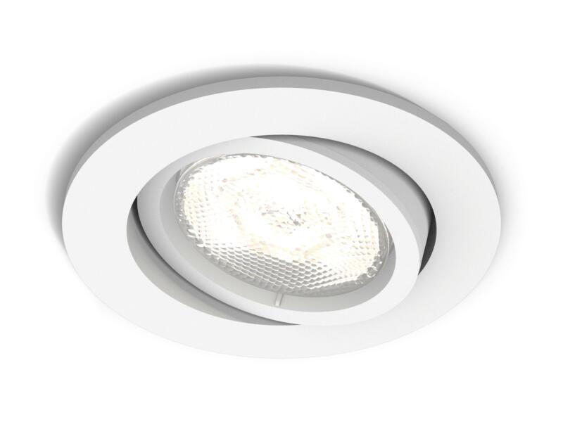 Philips myLiving Casement LED inbouwspot rond 4,5W dimbaar wit