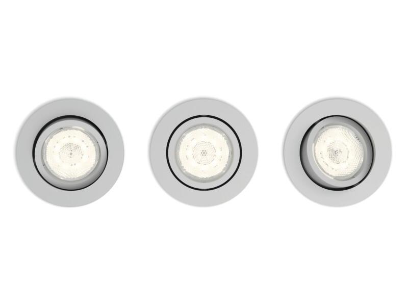 Philips myLiving Casement spot LED encastrable 3x4,5W dimmable gris