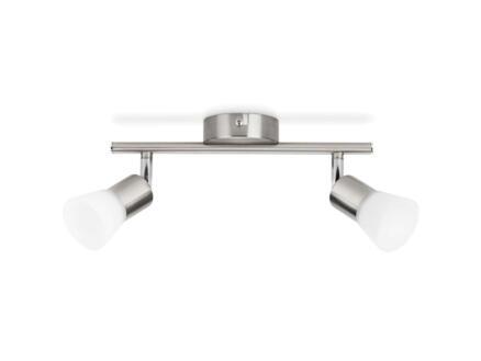Philips myLiving Decagon LED balkspot 2x4,3W mat chroom
