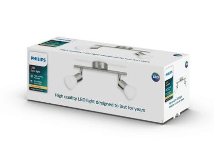 Philips myLiving Decagon barre de spots LED 2x4,3W chrome mat