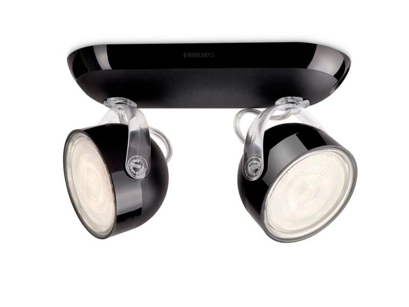 Philips myLiving Dyna LED balkspot 2x3W zwart