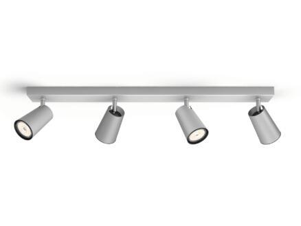 Philips myLiving Paisley balkspot GU10 max. 4x10W dimbaar aluminium